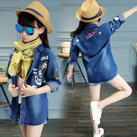 Wholesale For girls Jeans the latest model in MD LONG coat Korean version