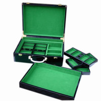 Wholesale New Top quality luxury wooden box can carry yard poker chips code case with shelves Casino Texas Holdem man creative gift