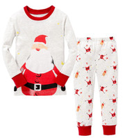 Cheap Hot sale~ Christmas new style baby pyjamas 100% cotton Children's clothes suit,cute night suits 6sets lot,