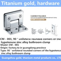 Wholesale CM unilateral rounded corners of the hypotenuse zinc alloy bathroom clamp