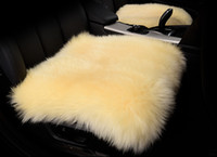 sheepskin car seat covers - 2016 Hot Selling Winter real sheepskin car seat cover wool car seat cushion wool cushion small square pad cushion car seat cover