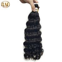 Wholesale 7A g Raw Natural Brazlian Bulk Human Hair No Weft Human Hair Bulk For Braiding Micro mini Braiding Bulk Hair