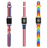 apple unions - The Union Flag US UK Flag The Stars and Stripes in Silicone Watchband Strap For Apple Watch Sport mm mm iWatch Bracelet Free Ship