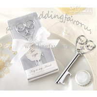 Wholesale Simply Elegant Key to My Heart Key Bottle Opener Wedding Favors Bridal Shower Party Gifts Anniversary Favors