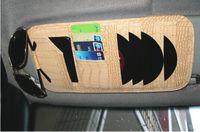 Wholesale car CD DVD bag Media case wallet Storage Imitation alligator CD Organizer Bag Case Universal for All Auto Visors