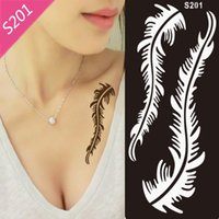 Wholesale Mehndi Henna Tattoo Stencil Black Henna Tattoo for Body PaintTemporary Tatoo Stencils Template for Painting Kit