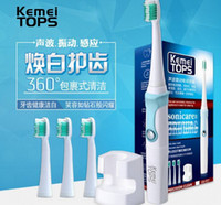 Wholesale Kemei KM Electric Toothbrush Waterproof Induction Charging Sonic Vibration Acoustic Wave Electric Toothbrush Deep Clean Teeth DHL