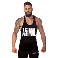 Wholesale European and American Men s Professional Bodybuilding Loose Cotton Sports Vest Colors Fitness Shirt Solid Y Back Gym Tank Top ST10