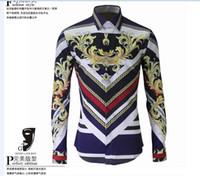 big collar shirts for men - New Mens Designer Brand Long sleeve plus size Shirt Men s Slim Fit big size Shirts For Men Clothing Hot sale