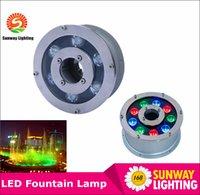 Wholesale Underwater Fountain Light LED W W W W W IP68 LED light swimming pool Lamps RGB LED fountain lights V V V V