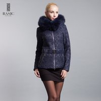 basic edition clothing - BASIC EDITIONS New Winter Fashion Women s Clothing Oversized Fox Fur Short Parka With Hood Parkas Coats Women Coat W D