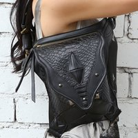 Wholesale Unsex Women Men Steampunk Retro Rock Gothic Goth Shoulder Bag Waist Bags Packs Victorian Style Leg Thigh Holster Bag