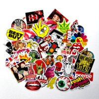Wholesale 50pcs mixed decal Car Styling Skateboard Laptop Luggage Snowboard Car Fridge Phone DIY Vinyl Decal Motorcycle Sticker Covers