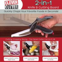 Wholesale 2016 DHL clever cutter kitchen Knives stainless steel in fashinable multi functional cutting scissors