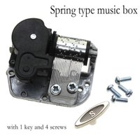 Wholesale 2016 Wind Up Music Movement Parts DIY Musical Box Five Songs Choose Happy birthday Song Beautiful Melody