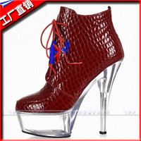 b reels - 6 inches of winter boots red light snow party shoes cm reel with punk platform women motorcycle boots boots classic short boots