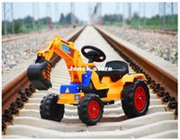 Wholesale Children can sit Keji electric excavator backhoe bulldozer multifunction large scale electric vehicle project