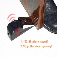 Wholesale Anti theft DB Warning Sound Mini Door Stop Alarm with Anti silp pad for Home Hotel Travelling