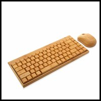 Wholesale keyboard mouse suit Bamboo keyboard Wireless keyboard mouse suite Mouse and keyboard wireless suits Computer peripherals