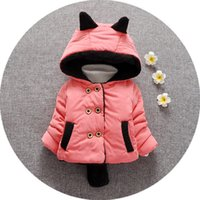 Wholesale infant baby winter coat baby girl winter hooded coat children wool coat winter Hooded with thick cotton padded jacket