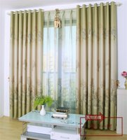 Wholesale European Style Blackout Curtains Green Tree Print Curtain Sheer Set Custom for Living Room Bedroom Upscale Full Shade Curtains