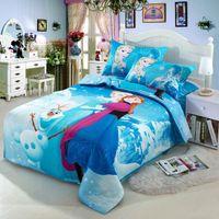 Wholesale Home textile New style Reactive Printing frozen bedding Elsa duvet cover Bedding sheet bedspread pillowcase set D Bedding Set