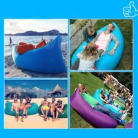 beach envelopes - 2016 Hottest Sale Casual Sofa Deck Chair Inflatable Sleep Camping Suitable Beach Home Nylon Fabric Soft Sleeping Bag Bed Outdoors Gear DHL