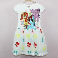 Wholesale The little horse Polly Gucci Womens cotton gauze dress Girls Princess Dress pictures to join us
