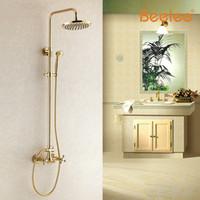 beelee faucet - Beelee BL2103G Gold Full Copper Shower Faucet Suit European Shower Head Riser