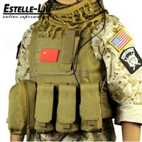 Wholesale Hot New Hunting Vest Military Airsoft MOLLE Nylon Combat Paintball Tactical Vest Outdoor Products