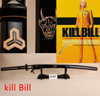 Wholesale Kill Bill handmade sharp katana samurai japanese swords real katansa swords for sale katanas Movie props The Bride