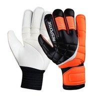 Football Finger Gloves Checked Professional football goal keepers glove fingertall torwarthandschuhe goalkeeper Goalie gloves guantes de futbol de porteros