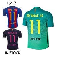 barcelona uniform - 2016 Barcelona Iniesta Soccer Jerseys Lionel Messi Uniform Third Neymar JR Camisetas de futbol Suarez Shirts Maillot de Foot