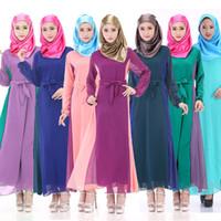 Wholesale New Arrival Women Abaya Robe Muslim Djellaba Islamic Clothing For Women Caftan Chiffon Muslim Fashion Long Dress