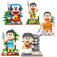 auction toys - 5 Models LOZ Blocks Kawaii Doraemon DIY Building Toys Nobita Nobi collection Auction Figure Toys for Children Gift