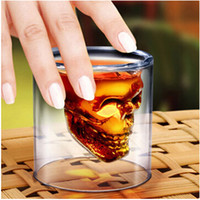 Wholesale pc Doomed Crystal Shot Glass Crystal Skull Head Vodka Shot Wine Novelty Cup