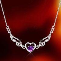 asian formal wear - Angel Lovers Silver Necklaces Rhinestone New Pendants for Formal Party Prom Women Wear Wedding Jewelry