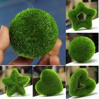 artificial moss balls - Patterns DIY Artificial Moss Ball Star Heart Potted Plant Ornament Garden Decor Perfect Decoration
