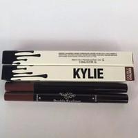 Wholesale New Arrival kylie double eyeliner side HOT MAKEUP Eyeliner Liquide Pencil waterproof Black and brown