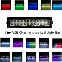 Wholesale 13 Inch w Cree Led Light Bar RGB Halo Ring Chasing Multi color with Remote Controller