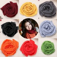 Wholesale Children new winter fashion wild child scarves solid color scarves cotton baby children bandana Soft Kids Girls Boys scarf