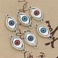 antique devil - 99Cents Charms colors devil eye mm Antique Making pendant fit Vintage Tibetan Silver DIY bracelet necklace