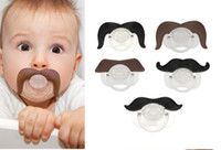 Wholesale 5 Stile Safe Quality Baby Funny Pacifier Mustache Pacifier Infant Soother Gentleman bpa Baby Feeding Products