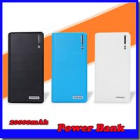 Cheap 20000mAh Power Bank 2 USB Port Charger External Backup Battery With Retail Box For iPhone iPad Samsung Mobile Phone