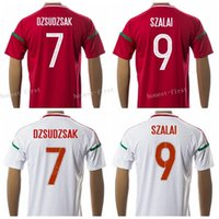 away jersey color - 2016 Hungary Jersey Soccer DZSUDZSAK SZALAI Football Shirt Uniform Kits Foot Tshirt Customized Team Color Red Road Away White