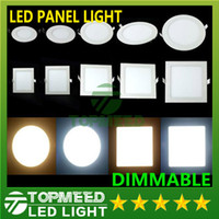 Wholesale Dimmable Led Panel Light SMD W W W W W W W V Led Ceiling Recessed down lamp SMD2835 downlight driver
