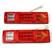 Cheap 2X 19 LED Trailer Truck RV ATV Turn Signal Running Tail Light #S White-Amber-Red