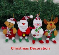 beer christmas ornament - 4Pcs Set NEW Christmas Decoration Supplies for Home Snowman elk Beer Santa Christmas Tree Ornaments