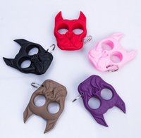 Wholesale Brutus Self Defense Key Chain Dog Skull Shaped Personal Security Women Self defense Keychains Keychain Factory Direct Free DHL