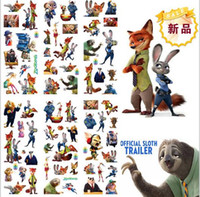 Wholesale Retail Zootopia Octonauts Cartoon Puffy stickers toys Frozen patrol dog the Avengers superman minions childrens wall stickers designs